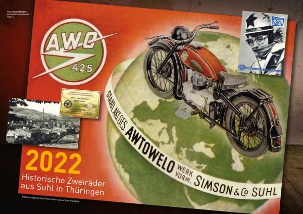 """Kalender 2022 - """"AWO 425 - Historische Zweiräder aus Suhl"""""""
