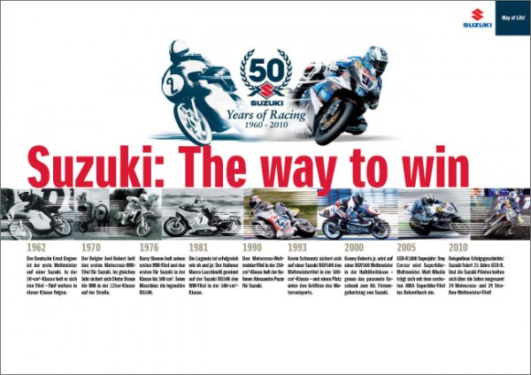 "Broschüre ""Suzuki: The way to win"""